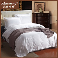 Cotton White Satin rubber home textile bedsheet