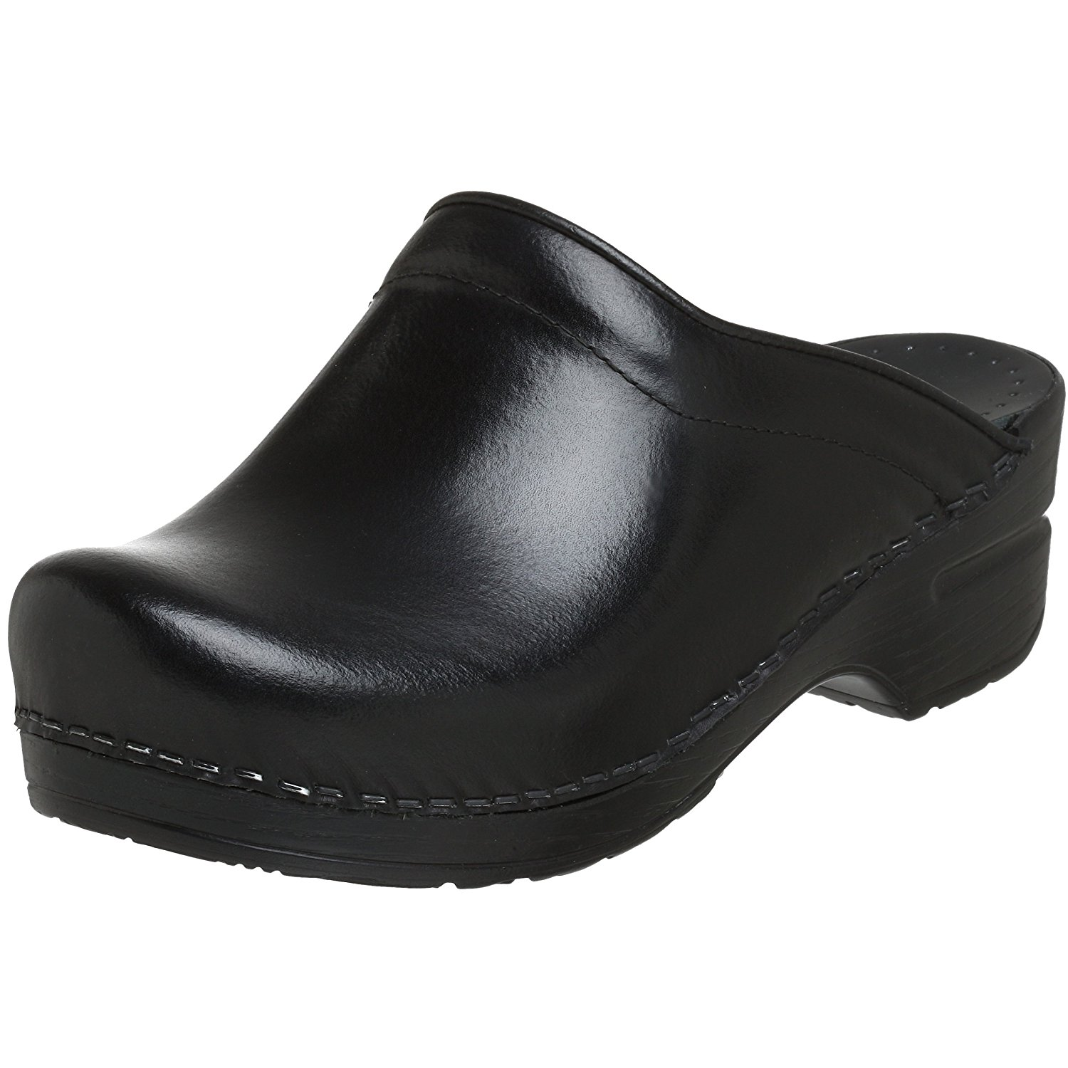 Dansko Women's Sonja Cabrio Leather Clog, Black, 38 EU/7.5-8 B(M) US