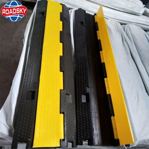 Traffic Safety Yellow Jacket Visible Cable Protector plastic cable protection covers