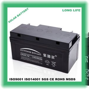 alarm system high capacity ups small 12v 65ah battery sealed lead-acid working models solar energy