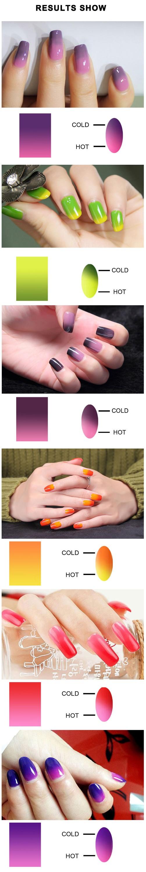 Nail Manicure Care Magic Double Color Change Temperature Gel Uv Soak ...