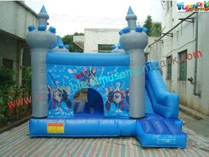 Frozen Inflatable Bounce Houses , Inflatable Frozen Mini Bouncer Slide