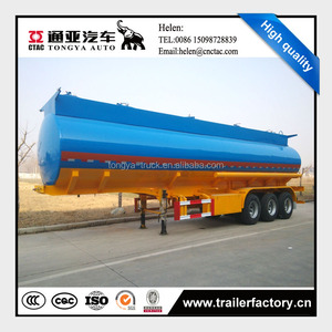 Diesel crude oil fuel tanker trailer for sale