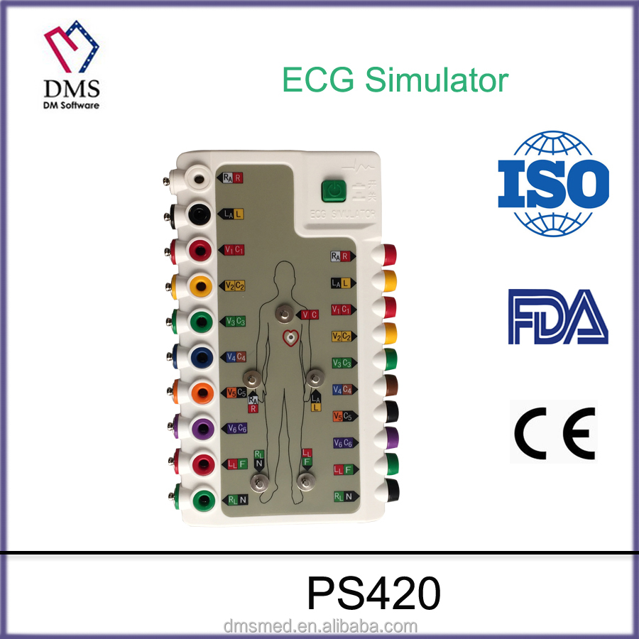Low cost portable ecg simulator device