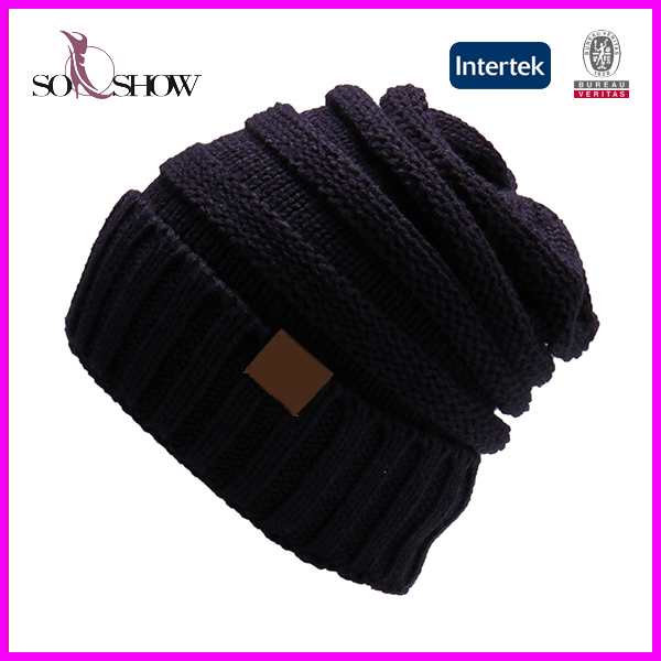 south africa polyester beanie hats Cable Knit Slouchy baby beanie hats b400c52091a