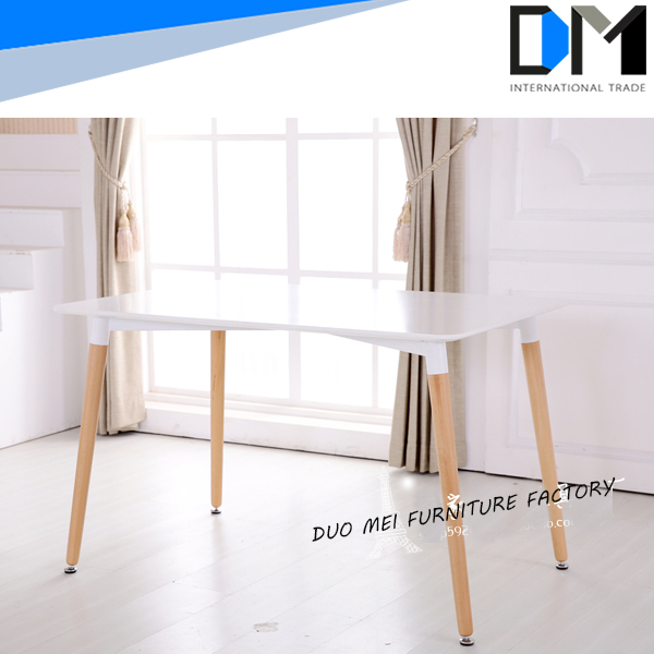 MDF furniture wood coffee table , dining table set with plastic chair