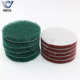 Chinese supplier 4 inch green nylon abrasive polishing disc scouring pad