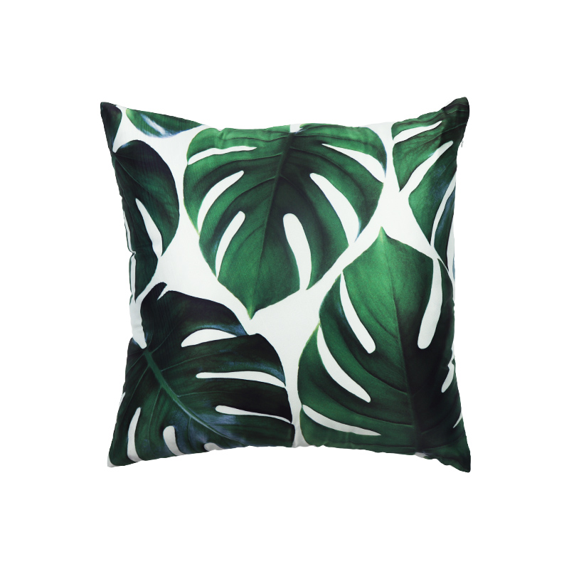Wholesale custom printing hotel decorative throw pillow case polyester cushion cover