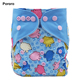 Free shipping Pororo cloth diaper wholesale printed baby cloth diaper reusable baby diaper