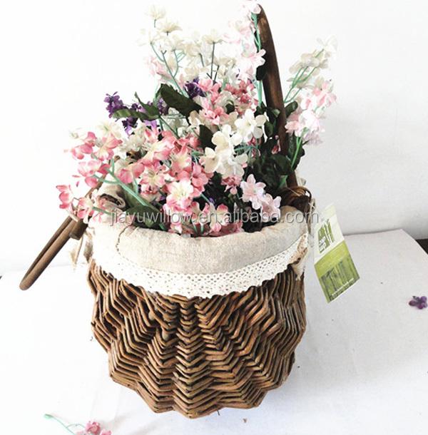 Flower Girl Baskets Wicker Flower Basket Hanging Flower Basket