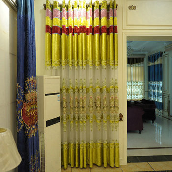 Gold Crushed Velvet Embroidered Curtains Design Your Own House
