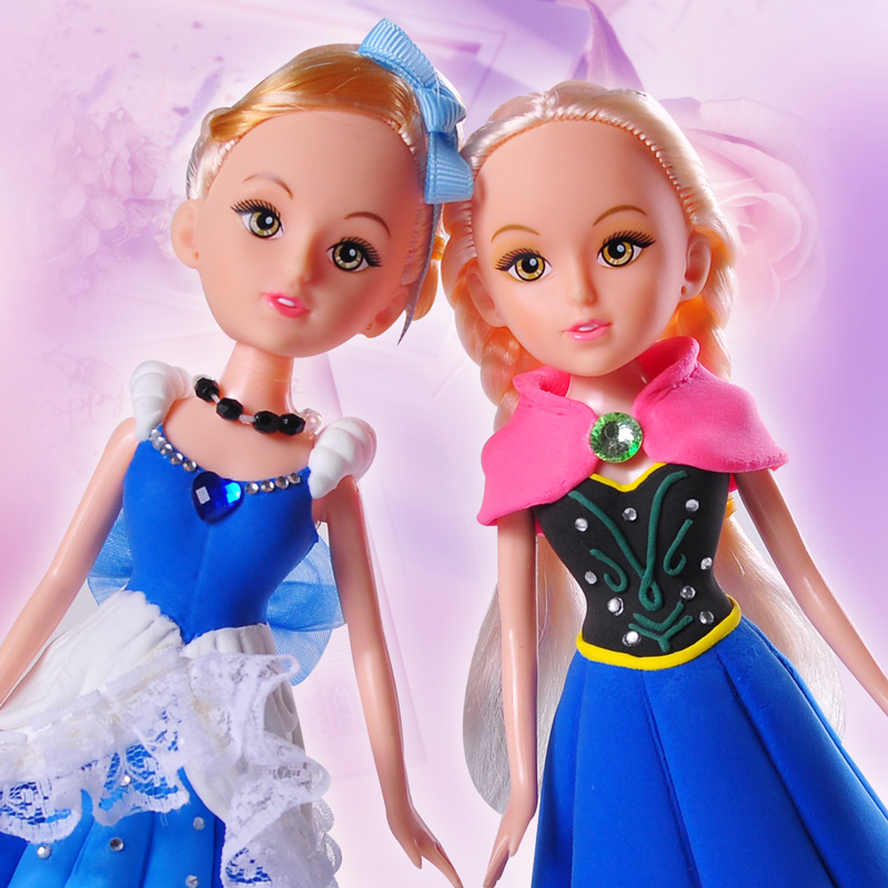 Fairytale princess kids modeling clay for doll DIY making for girls