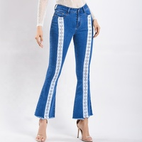 Latest Ladies Denim Butt Lift Wide Leg Bootcut Jeans For Woman