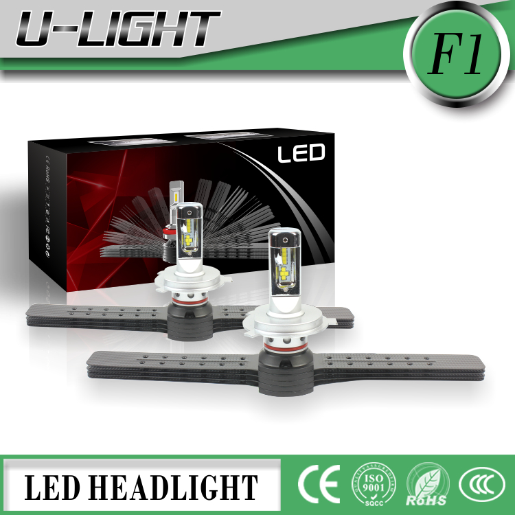 Newest Body Dynamic F1 LED headlights kits with CREES or CSP LED chips 4000LM H4 H7 H11 H13 9005 9006 9007 car LED headlights