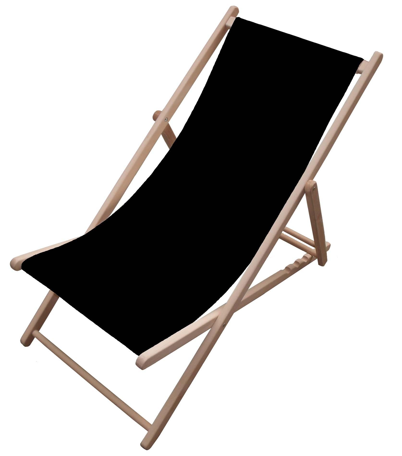 Black Garden Deck Chair Canvas Fsc Buy Outdoor Furniture Fsc