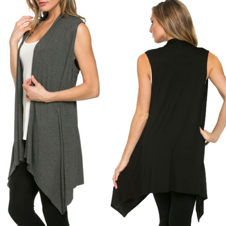 2017The Female With Irregular Sleeveless Tank Top Hot Selling Knitting Cardigan