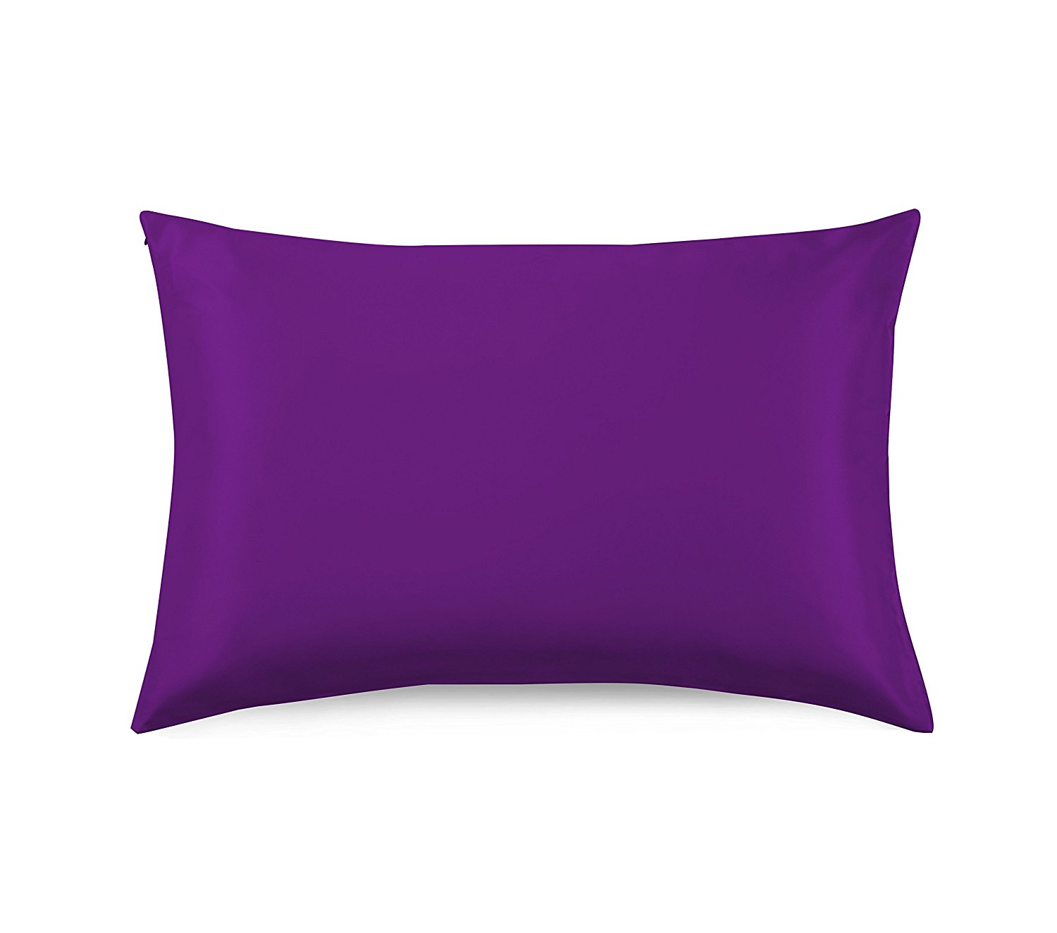 OROSE 19mm Luxury 100% Pure Mulberry Silk Pillowcase with Cotton Underside, good for hair, sleep and facial beauty, prevent wrinkle and allergy, with hidden zipper, gift wrap (King, Violet)