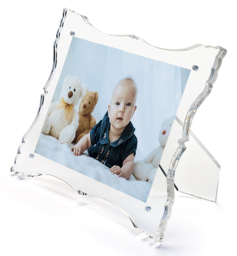 Custom acrylic picture frame funia photo acrylic bed frame
