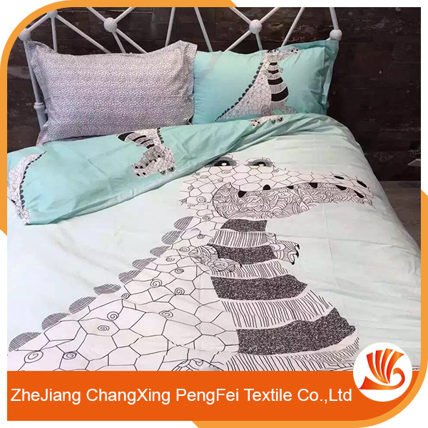 Crocodile printed bed sheet set for adult