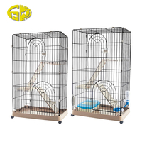 Excellent quality luxury expandable three layers cat cage with wheels