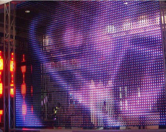 Outdoor Transparent Led Curtain Display