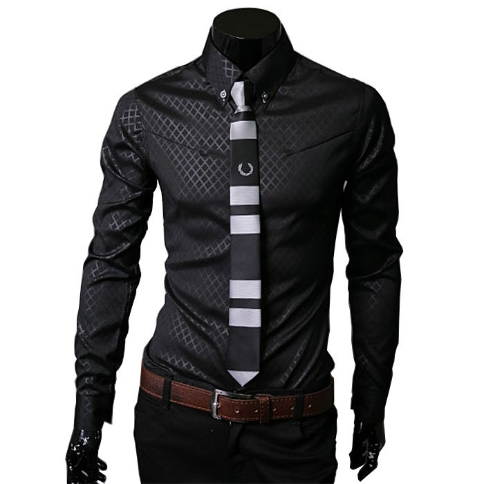 Wholesale Latest Formal Shirt Designs Men Slim Fit Dress