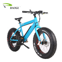 Factory supply 1000w 48V 26 inch high quality e bicycle electric fat tire mountain bike 2017