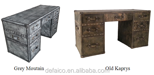 vintage style office furniture. Grey Mountain Color Genuine Leather Vintage Style Office Furniture Table