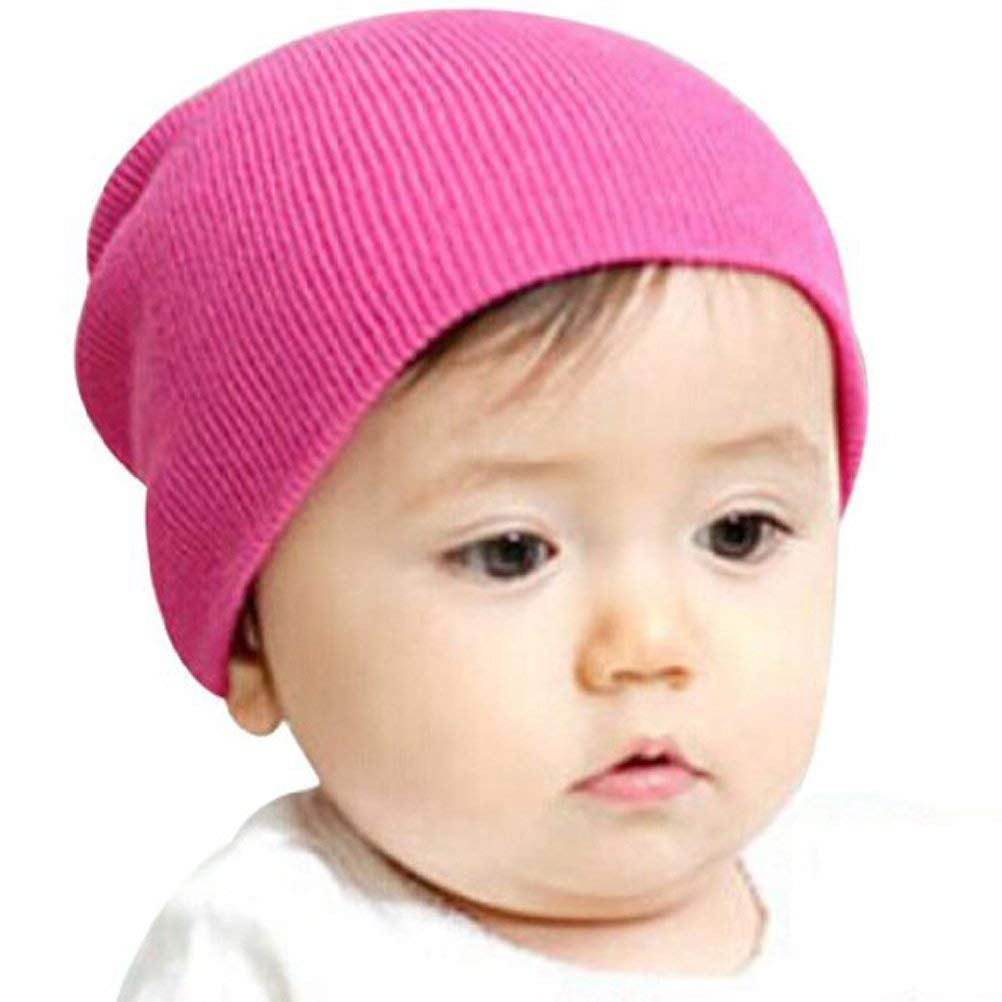e2558118ec3 Get Quotations · BUYEONLINE Beanie Winter Warm Baby Kids Sweet Knitted Soft Cotton  Hat Cap