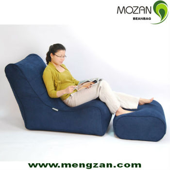2016 New Design Floor Chairs With Back Support Bean Bag Ottoman In Comfort Suede
