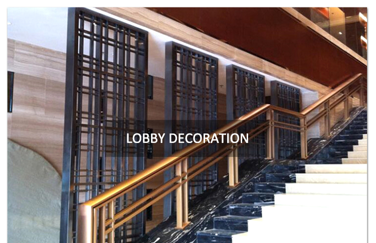 Wholesale Factory Price Aluminum Restaurant Room Divider Decorative Metal Stainless Partition Screen