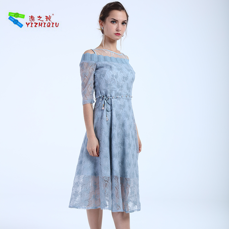 YIZHIQIU Wholesales Customized Floral Lace Dress