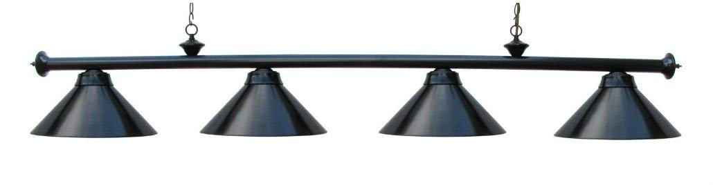 """72"""" Pool Table Light Billiard lamp Black With Metal Shades For 9' Table"""