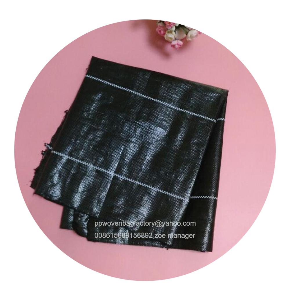 Haute qualité tapis de mauvaises herbes/couvre-sol en plastique/paillis de plastique noir 008615689156892