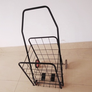 Hot selling Portable Folding Dolly Trolley , Grocery Metal Foldable Luggage Shopping Cart