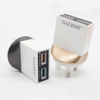 Wholesale 2.4A Portable Dual Usb Chargers Wall Charger with EU US UK AU Plugs