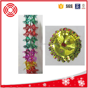 Good quality Christmas foil garland/foil hanging decorations