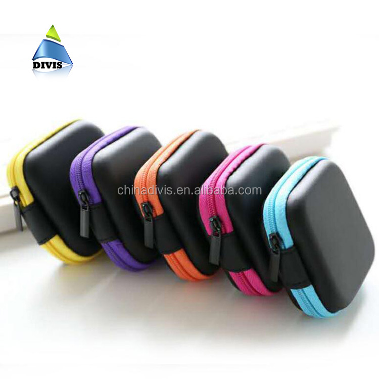 Square Carrying Cases for Cellphone Earphone Case Headset Earbuds Pouch Storage bags