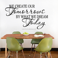 Creative Tomorrow by Dreams today Wall Art Decal Home Decor Famous Inspirational Quotes Living Room Bedroom Wall Stickers