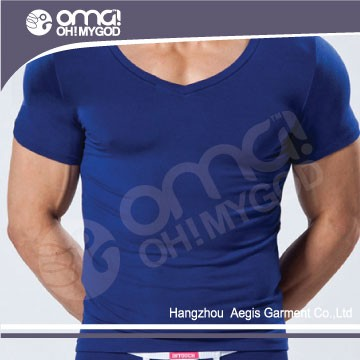 Custom new model shirts 100% polyester blue surf t-shirt