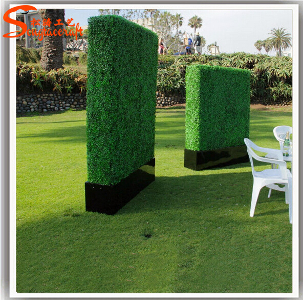 Customized Size Plastic Hedge Artificial Boxwood Hedge