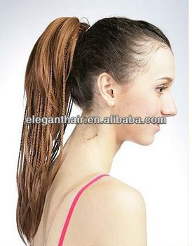 Brown Synthetic Hair Ponytail Extension