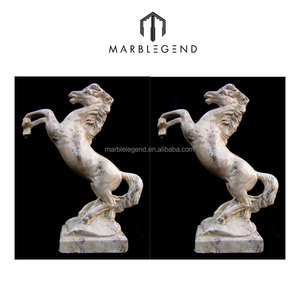 Hot sale polished marble horse statue of high quality and factory price