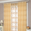 High stock manufacturers direct for European gold window shade finished product wholesale study living room bedroom jacquard cur