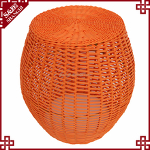 China Supplier Rattan Handmade Colorful Kids Plastic Stools