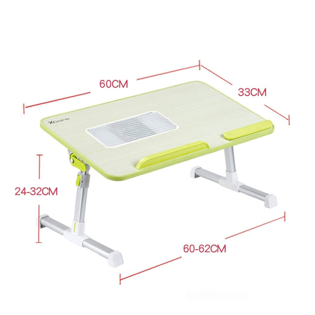 Adjustable Laptop Bed Table, Portable Desk, Breakfast Tray, Laptop Stand Book Reading Rest Frame Sofa Floor Children (Color : 6)