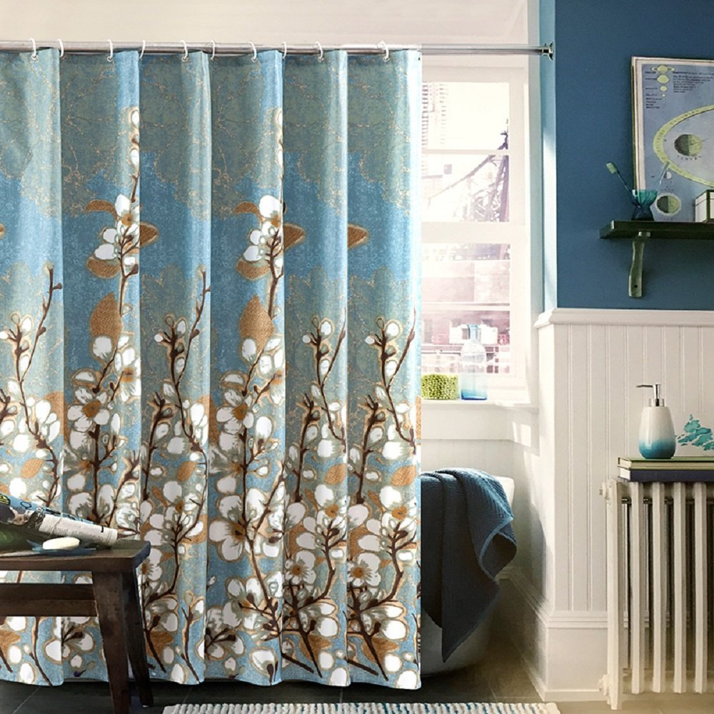 Ufaitheart Magnolia Flower Pattern 72 X 75 Shower Curtain Fabric Liner