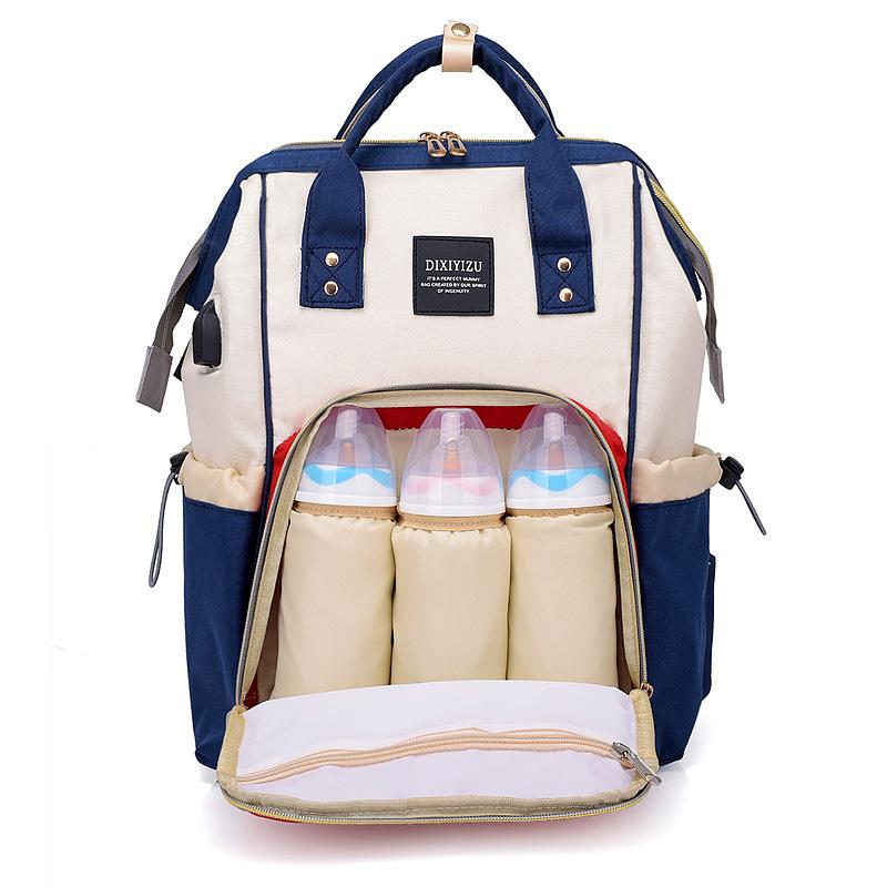 Многофункциональный удобный стильный USB зарядное устройство Пеленальный мешок большой хранения пеленки рюкзак сумка для мам