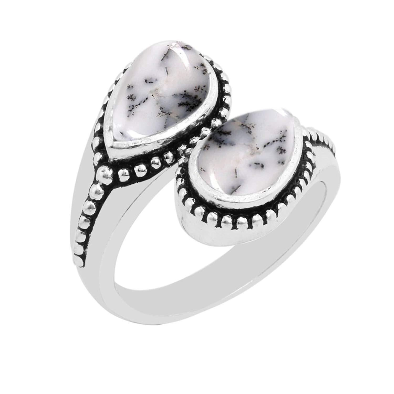 30 Cts 100/% Natural Dendrite Opal Beautiful Cabochon Gemstone AAA Quality Dendrite Opal Gemstone Size 37x21x5 mm Pear Shape Free Shipping