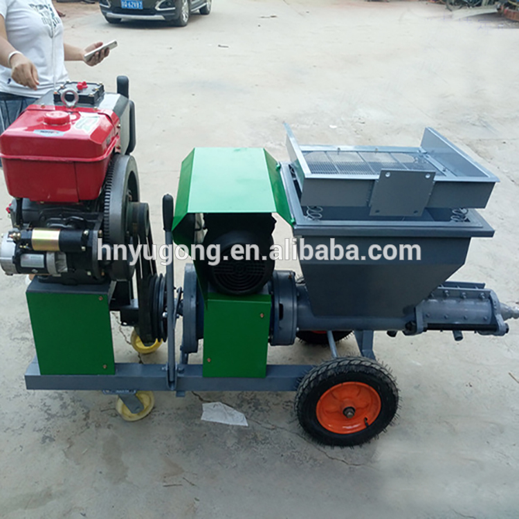 Automatic Piston Building Wall Sand Cement/ Mortar Plaster Machine/Render Spraying Pump